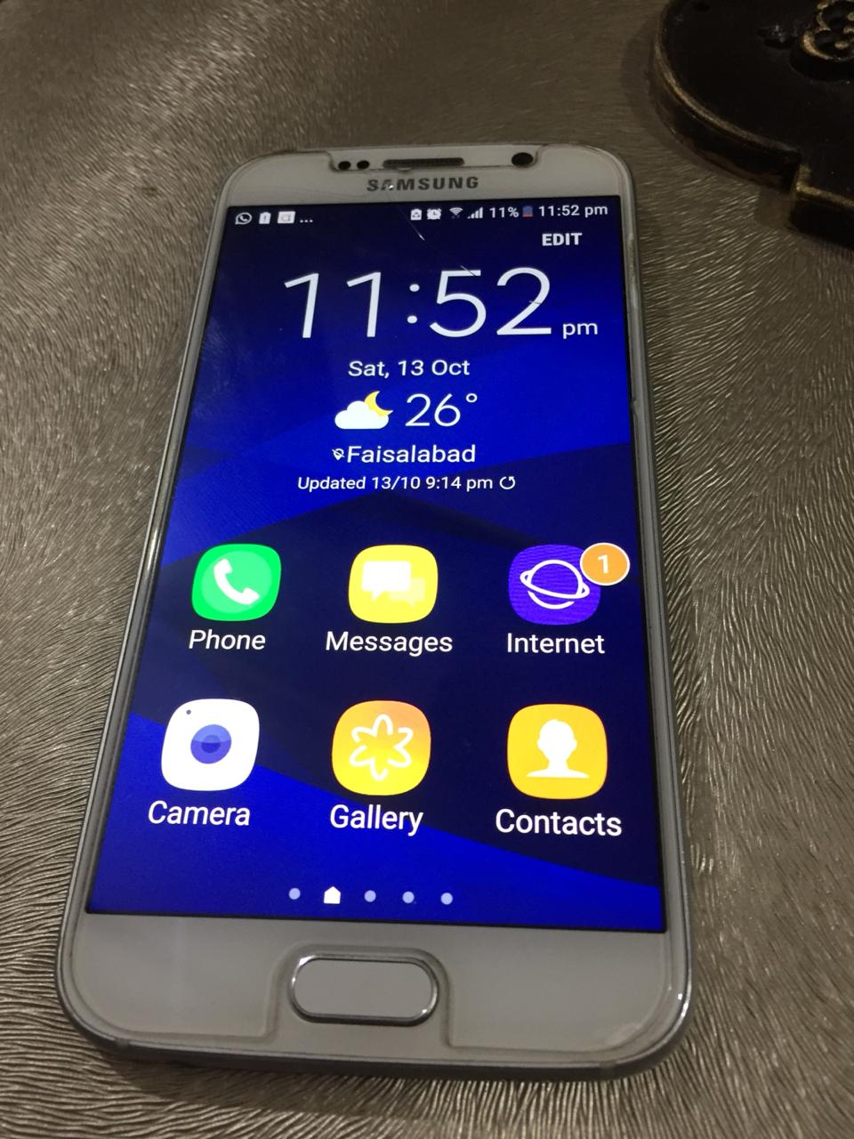 Samsung Galaxy S6 100% Working. CRYSTAL CLEAR FRONT. No Fault, Never Repaired. - photo 2