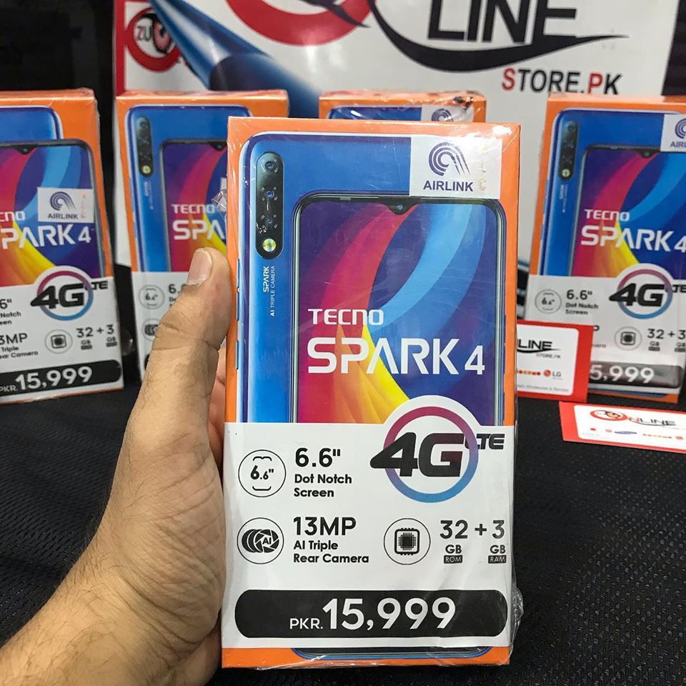 TECNO SPARK 4 BOX PACK AIRLINK OFFICIAL 1 YEAR WARRANTY 03452914221 - photo 3