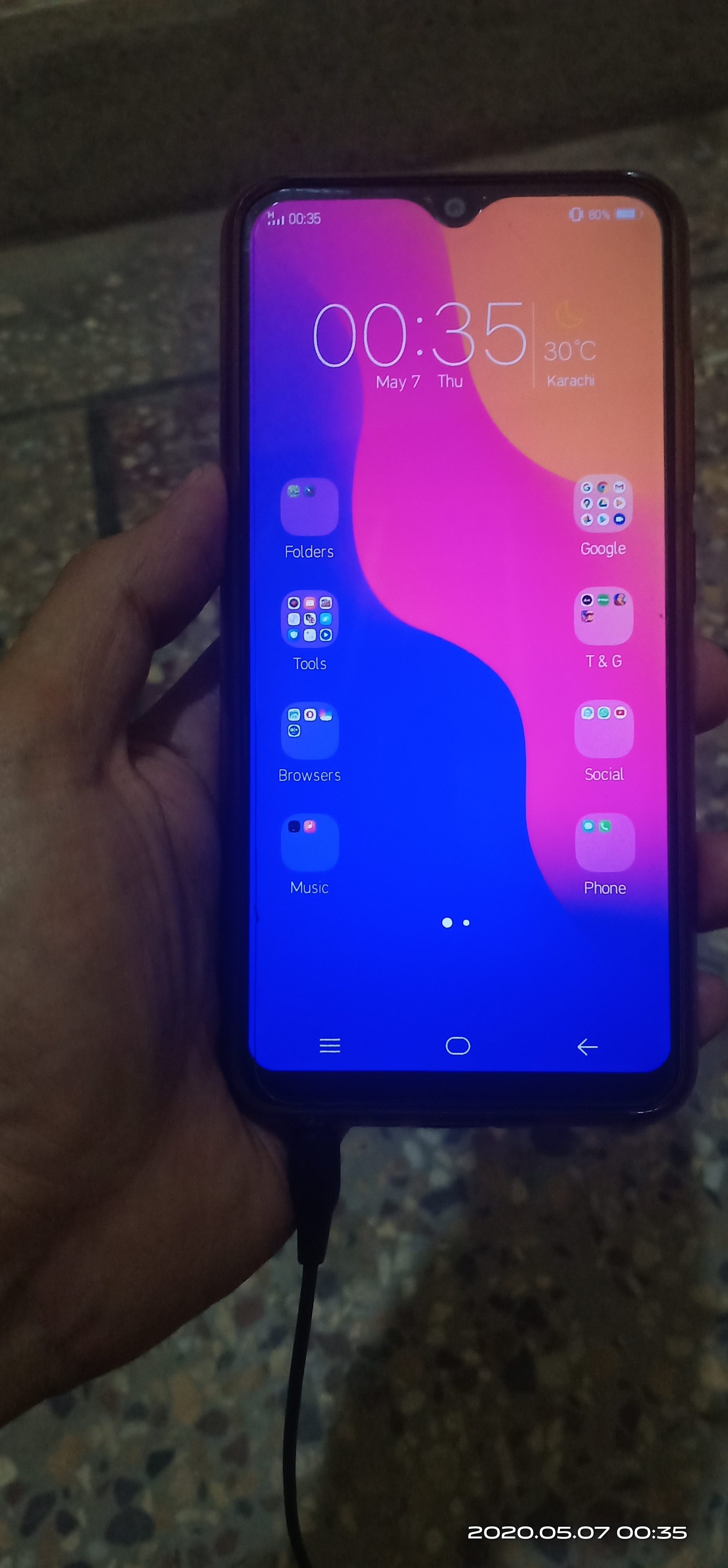 Vivo y91c dual sim 4g sunset red mint condition (read ad first plz) - photo 2