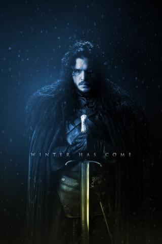 Jon Snow - Winter has Come  free mobile wallpapers