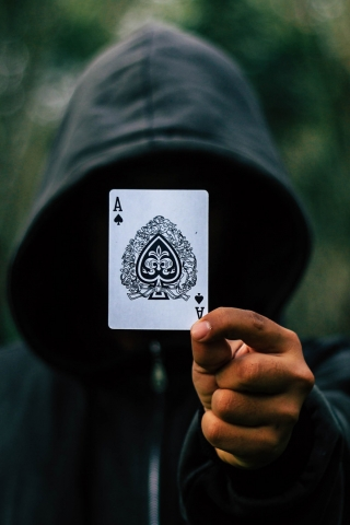 Black Ace Card  free mobile wallpapers