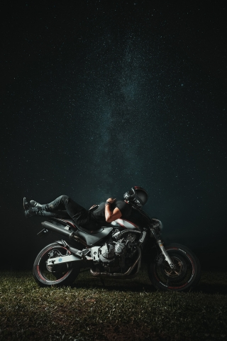 Black Biker  free mobile wallpapers