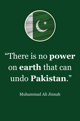 Muhammad Ali Jinnah Quote - No Power on Earth  free mobile wallpapers