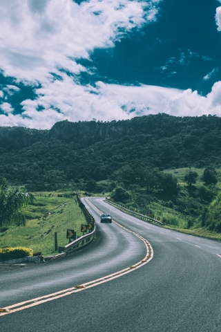 Road view  free mobile wallpapers