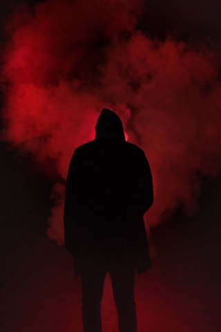 Red smoke man  free mobile wallpapers