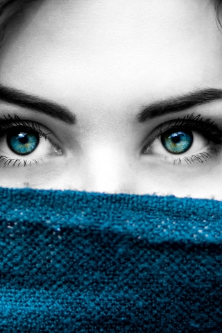 Blue eye girl  free mobile wallpapers