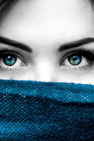 Blue eye girl  free mobile wallpapers