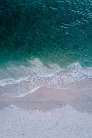 Beach Top drone view  free mobile wallpapers