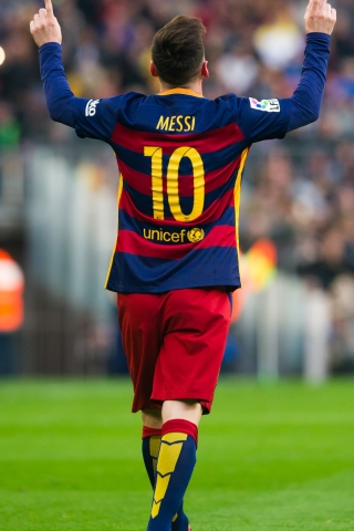 Lionel Messi Football Player 10 Download Mobile Wallpaper