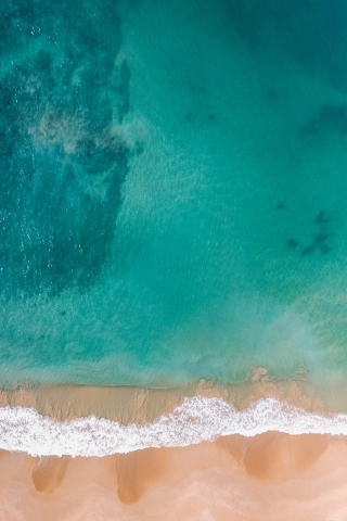 Aerial Blue Beach View Free Mobile Wallpapers