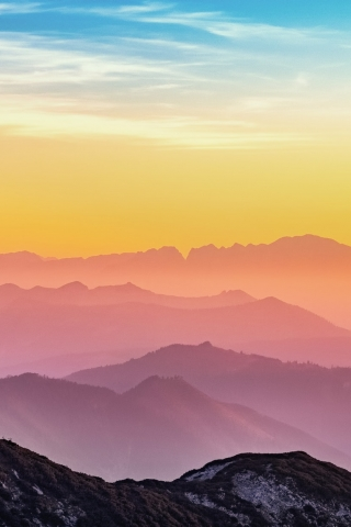 Colorful Mountains  free mobile background