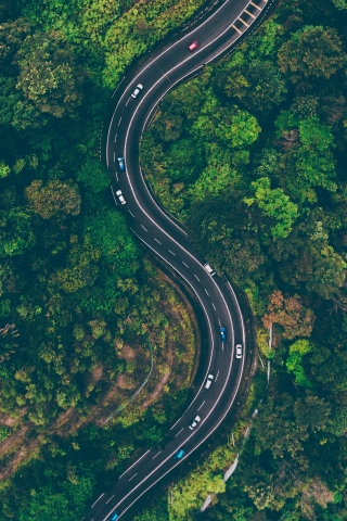 Aerial View Road  free mobile background
