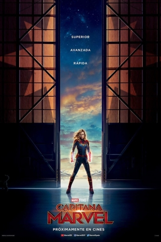 Captain Marvel Poster  free mobile background