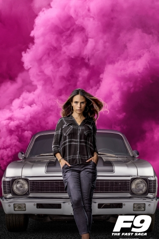 Jordana Brewster - Fast and Furious 9 Poster  free mobile background