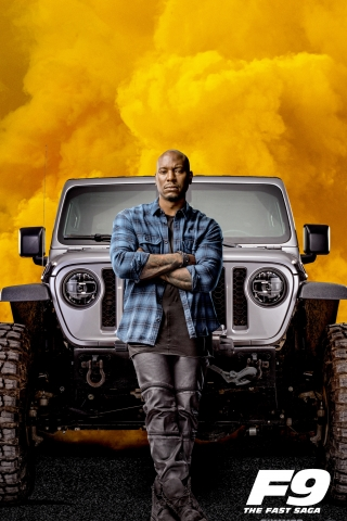 Tyrese Gibson - Fast and Furious 9 Poster  free mobile wallpapers