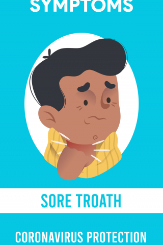 Symptoms - Sore Troath - CoronaVirus Protection  free mobile background