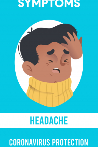 Symptoms - Headache - CoronaVirus Protection  free mobile background