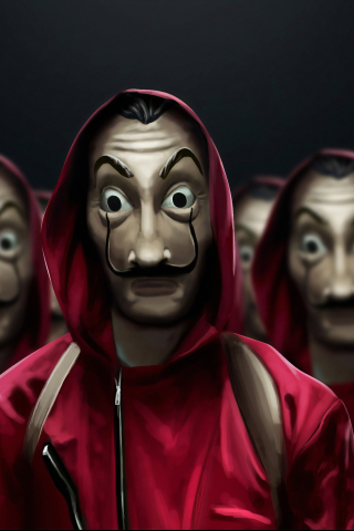 La Casa De Papel (Money Heist)  free mobile background