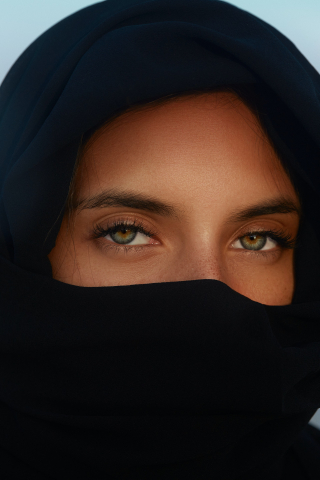 Black Hijab  free mobile background
