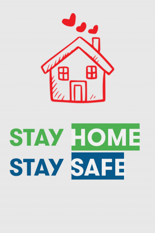 Stay Home Stay Safe  free mobile background