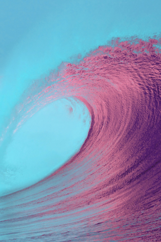IOS 13 Beach Wave Background  free mobile wallpapers