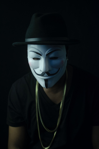 Guy Fawkes Face Mask  free mobile background