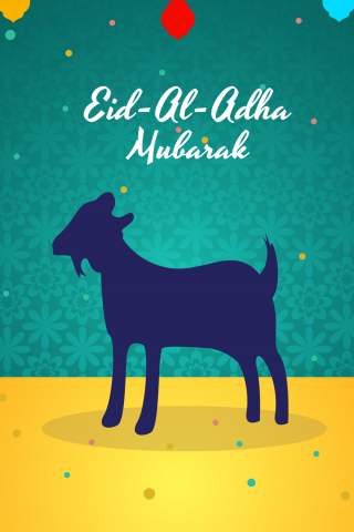 Eid ul Adha Mubarak Card 2020  free mobile wallpapers