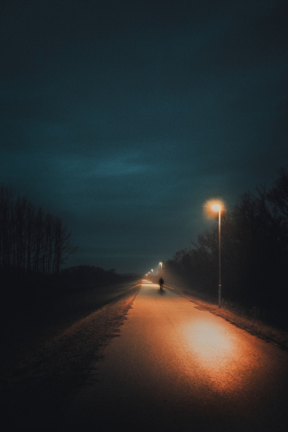 Alone walking Person - Aesthetic  free mobile wallpapers